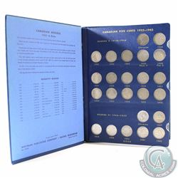 1922 to 1967 Canada 5-cents Collection housed in a Vintage Whitman Album. You will receive the compl