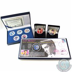 Elvis Presley Commemorative Collector Coin Lot. You will receive the 2006 Coloured 1oz Fine Silver E