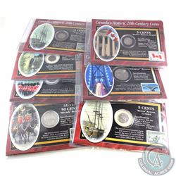 Group Lot of Canada's Historic 20th Century Coin and Stamp Sets. You will receive the 1916 50-cent c