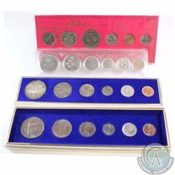 1966-1974 Canada Circulation Year Sets. You will receive the 1966 6-coin Set, 1967 6-coin Set, 1971