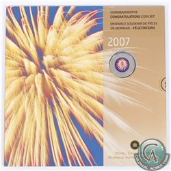 2007 Canada Congratulations 7-Coin Gift Set with Commemorative Coloured Fireworks 25-cent. *Rare* Wi