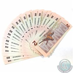 30 x 1986 $2.00 Notes with Consecutive Serial Numbers. 30 pcs