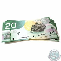 27 x 2004 $20.00 Notes with Knight-Dodge Signatures and Consecutive Serial Numbers. 27 pcs