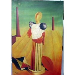 Chirico Oil on Canvas