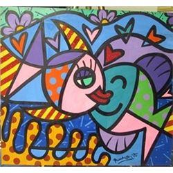 Oil on Canvas Romero Britto