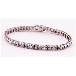 SILVER BRACELET WITH DIAMOND