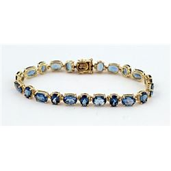 SILVER BRACELET WITH LONDON BLUE TOPAZ