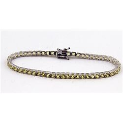 SILVER BRACELET WITH YELLOW SAPPHIRE