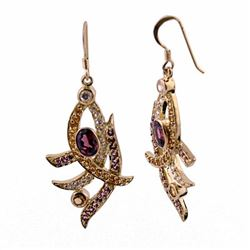 SILVER EARRING WITH MULTIGEMS