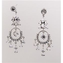 SILVER EARRING WITH WHITE ZIRCON