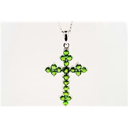 SILVER PENDANT WITH CHROME DIOPSIDE