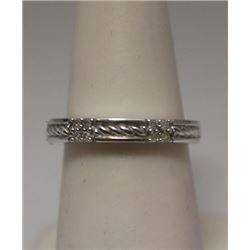 Fancy Diamonds Silver Band