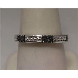Stunning Black Diamonds Silver Band