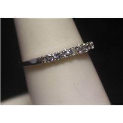 Elegant White Sapphire Silver Ring