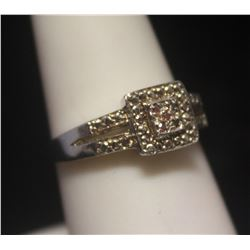 Fine Diamond Silver Ring