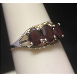 Fancy Lab Ruby Silver Ring