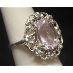 Lavish Kunzite Silver Ring