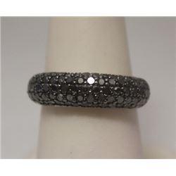 Stunning Black Silver Ring