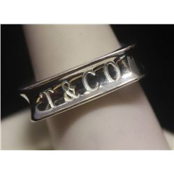 Fancy T & Co. Squared Silver Ring