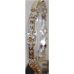 Fancy Yellow Sapphire Bracelet