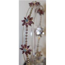 Fancy Diamond, Amethyst, and Topaz Bracelet