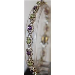 Gorgeous Peridot and Amethyst Bracelet