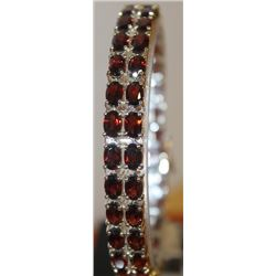 Unisex Garnet Bracelet
