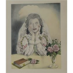 Weeping Bride - Lithograph -  Legrand