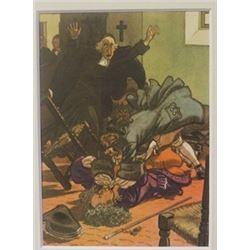 Death in Church - Lithograph -  Cleland