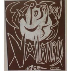 Vallavris expo 1955 Lithograph -  Picasso
