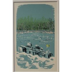 The Pond Lithograph -  Lamb