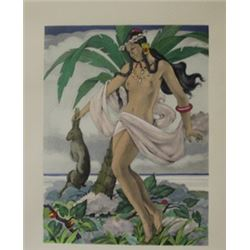 Native Nudity - Lithograph -  Legrand