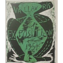 vallavris expo 1954 litho -  Picasso