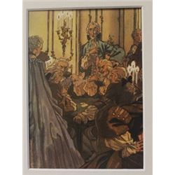 The Poker Game - Lithograph - legrand