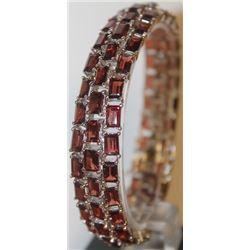 Stylish Lab Garnet Bracelet
