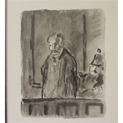 Old man in custody - Lithograph -  Lamb