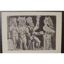 Two men and Bird - Lithograph  -  Picasso