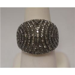 Lavish Champagne Diamonds Silver Ring