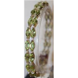 Fancy Silver Peridot Bracelet