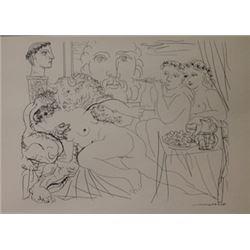 Minotaur Caresing Girl 1937 Litho- Picasso