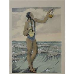 Poured into the sea - Lithgraph - Legrand
