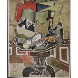 Dining table- Lithograph -  Braque