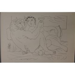 Drinking Minotaur Lithograph -  Picasso
