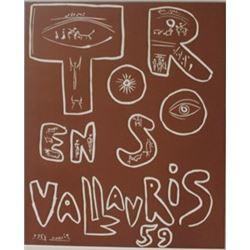 1959 Vallavris Lithograph -  Picasso