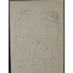 Two Women 1933 Lithograph -  Picasso