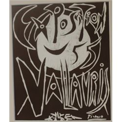 1955 vallavris Exposition litho -  Picasso