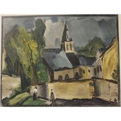 Chudeit at Bougac - Lithograph   -  Maurice de Vlaminck