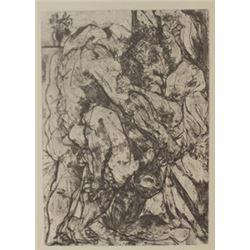 Rape - Lithograph  -  Picasso