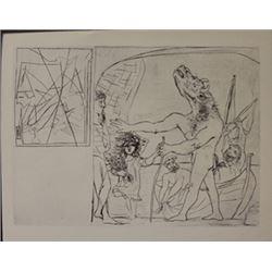 blind minotaur lithograph  -  Picasso