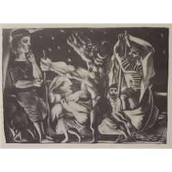 Night Minotaur lithograph  -  Picasso